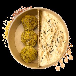 bestellung Essen Hummus mit falafel wien essen Buddha bowls